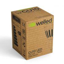 well.e.d. LED Einbauspot Neutralweiß 230V 4000K 7W GU10 Vollspektrum RA98 CRI98 540lm dimmbar